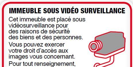 Panneau d'avertissement Vidéosurveillance